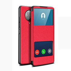 Coque Portefeuille Livre Cuir Etui Clapet T02 pour Xiaomi Redmi K30 Pro 5G Rouge