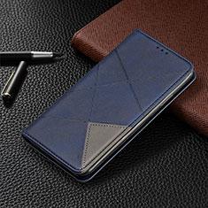 Coque Portefeuille Livre Cuir Etui Clapet T02 pour Xiaomi Redmi Note 9 Pro Bleu