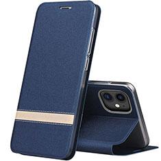 Coque Portefeuille Livre Cuir Etui Clapet T03 pour Apple iPhone 11 Bleu