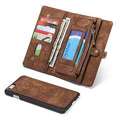 Coque Portefeuille Livre Cuir Etui Clapet T03 pour Apple iPhone 6 Plus Marron