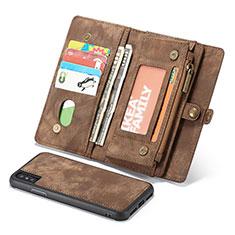 Coque Portefeuille Livre Cuir Etui Clapet T03 pour Apple iPhone X Marron