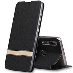 Coque Portefeuille Livre Cuir Etui Clapet T03 pour Huawei Honor 20 Lite Noir