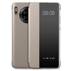 Coque Portefeuille Livre Cuir Etui Clapet T03 pour Huawei Mate 30 Pro Or
