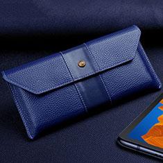 Coque Portefeuille Livre Cuir Etui Clapet T03 pour Huawei Mate Xs 5G Bleu