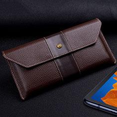 Coque Portefeuille Livre Cuir Etui Clapet T03 pour Huawei Mate Xs 5G Marron