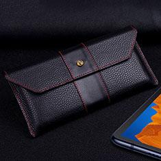 Coque Portefeuille Livre Cuir Etui Clapet T03 pour Huawei Mate Xs 5G Noir