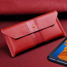 Coque Portefeuille Livre Cuir Etui Clapet T03 pour Huawei Mate Xs 5G Rouge