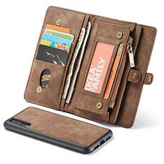 Coque Portefeuille Livre Cuir Etui Clapet T03 pour Huawei P20 Pro Marron