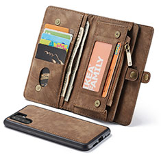 Coque Portefeuille Livre Cuir Etui Clapet T03 pour Huawei P30 Pro Marron