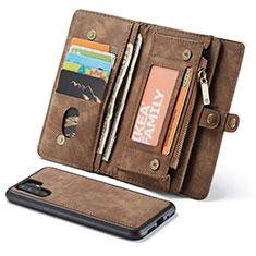Coque Portefeuille Livre Cuir Etui Clapet T03 pour Huawei P30 Pro New Edition Marron