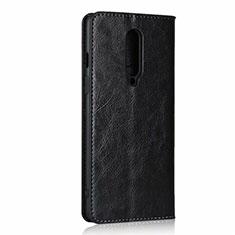 Coque Portefeuille Livre Cuir Etui Clapet T03 pour OnePlus 8 Noir