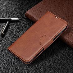 Coque Portefeuille Livre Cuir Etui Clapet T03 pour Xiaomi Redmi Note 9 Marron