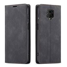 Coque Portefeuille Livre Cuir Etui Clapet T03 pour Xiaomi Redmi Note 9 Pro Noir