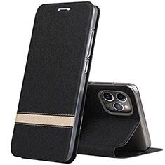 Coque Portefeuille Livre Cuir Etui Clapet T04 pour Apple iPhone 11 Pro Max Noir