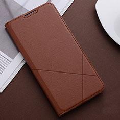 Coque Portefeuille Livre Cuir Etui Clapet T04 pour Huawei Honor 20 Lite Marron