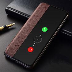 Coque Portefeuille Livre Cuir Etui Clapet T04 pour Huawei Mate 30E Pro 5G Marron