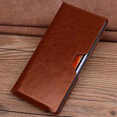 Coque Portefeuille Livre Cuir Etui Clapet T04 pour Huawei Mate Xs 5G Orange
