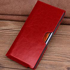 Coque Portefeuille Livre Cuir Etui Clapet T04 pour Huawei Mate Xs 5G Rouge