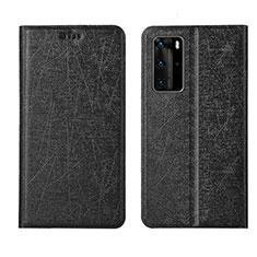 Coque Portefeuille Livre Cuir Etui Clapet T04 pour Huawei P40 Pro Noir