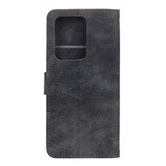 Coque Portefeuille Livre Cuir Etui Clapet T04 pour Huawei P40 Pro+ Plus Noir