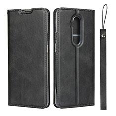 Coque Portefeuille Livre Cuir Etui Clapet T04 pour OnePlus 7T Pro Noir