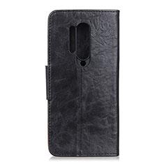 Coque Portefeuille Livre Cuir Etui Clapet T04 pour OnePlus 8 Pro Noir