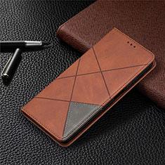 Coque Portefeuille Livre Cuir Etui Clapet T04 pour Xiaomi Mi 10T Lite 5G Marron