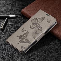 Coque Portefeuille Livre Cuir Etui Clapet T04 pour Xiaomi Redmi Note 9 Gris