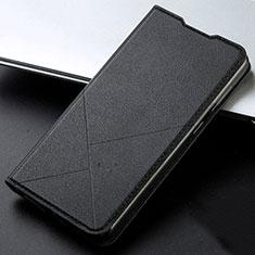 Coque Portefeuille Livre Cuir Etui Clapet T05 pour Huawei Honor 20 Lite Noir