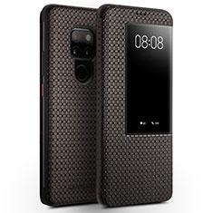 Coque Portefeuille Livre Cuir Etui Clapet T05 pour Huawei Mate 20 Marron