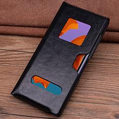 Coque Portefeuille Livre Cuir Etui Clapet T05 pour Huawei Mate Xs 5G Noir