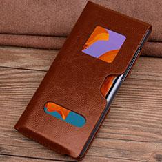 Coque Portefeuille Livre Cuir Etui Clapet T05 pour Huawei Mate Xs 5G Orange