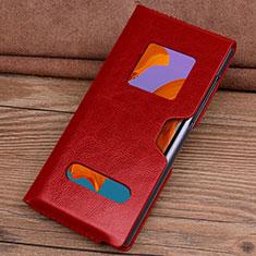 Coque Portefeuille Livre Cuir Etui Clapet T05 pour Huawei Mate Xs 5G Rouge