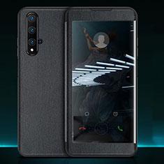 Coque Portefeuille Livre Cuir Etui Clapet T05 pour Huawei Nova 5T Noir