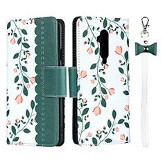 Coque Portefeuille Livre Cuir Etui Clapet T05 pour OnePlus 7T Pro Vert