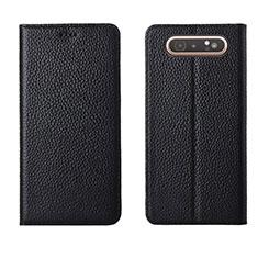 Coque Portefeuille Livre Cuir Etui Clapet T05 pour Samsung Galaxy A80 Noir
