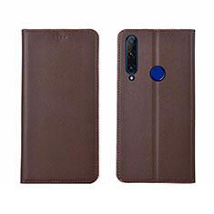Coque Portefeuille Livre Cuir Etui Clapet T06 pour Huawei Honor 20 Lite Marron
