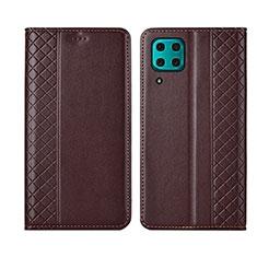 Coque Portefeuille Livre Cuir Etui Clapet T06 pour Huawei P40 Lite Marron