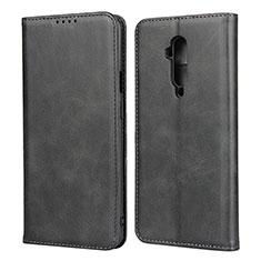 Coque Portefeuille Livre Cuir Etui Clapet T06 pour OnePlus 7T Pro Noir