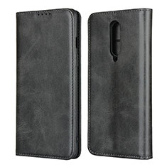 Coque Portefeuille Livre Cuir Etui Clapet T06 pour OnePlus 8 Noir