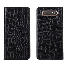 Coque Portefeuille Livre Cuir Etui Clapet T06 pour Samsung Galaxy A80 Noir