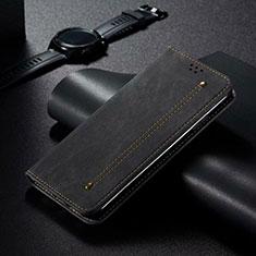 Coque Portefeuille Livre Cuir Etui Clapet T06 pour Xiaomi Mi 10 Pro Noir