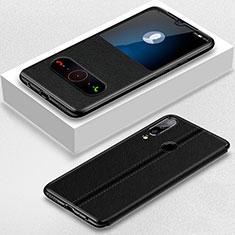 Coque Portefeuille Livre Cuir Etui Clapet T07 pour Huawei Honor 20 Lite Noir