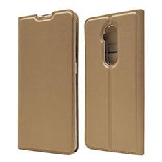 Coque Portefeuille Livre Cuir Etui Clapet T07 pour OnePlus 7T Pro Or