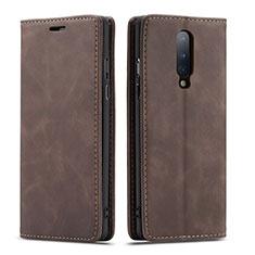 Coque Portefeuille Livre Cuir Etui Clapet T07 pour OnePlus 8 Marron