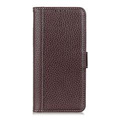 Coque Portefeuille Livre Cuir Etui Clapet T07 pour OnePlus 8 Pro Marron