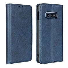 Coque Portefeuille Livre Cuir Etui Clapet T07 pour Samsung Galaxy S10e Bleu
