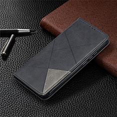 Coque Portefeuille Livre Cuir Etui Clapet T07 pour Xiaomi Redmi 9A Noir