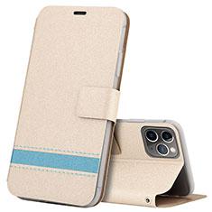 Coque Portefeuille Livre Cuir Etui Clapet T08 pour Apple iPhone 11 Pro Or