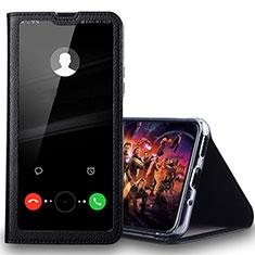Coque Portefeuille Livre Cuir Etui Clapet T08 pour Huawei Honor 20 Lite Noir